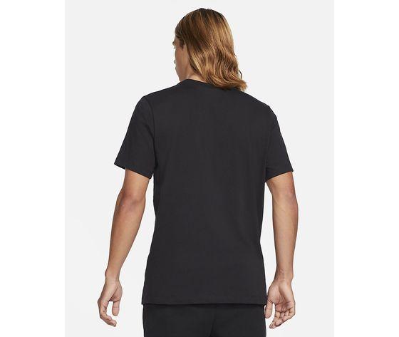 T shirt uomo nera nike sportswear swoosh bianco art. dc5094 010 1
