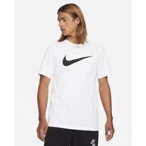 T-Shirt Uomo Bianca Nike Sportswear Swoosh Nero art. DC5094 100
