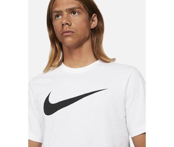 T shirt uomo bianca nike sportswear swoosh nero art. dc5094 100 2
