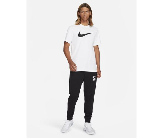 T shirt uomo bianca nike sportswear swoosh nero art. dc5094 100 3