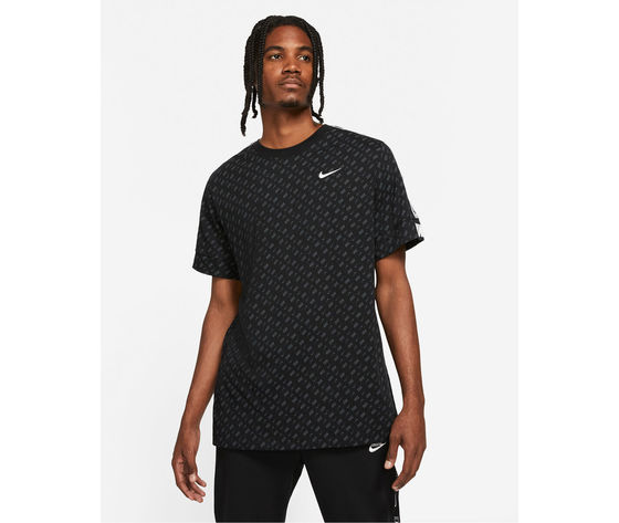 T shirt uomo nera nike repeat ss tee print black all over art. dd3777 010