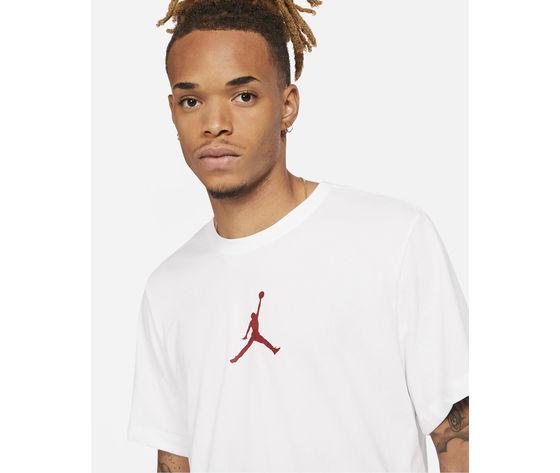 T shirt uomo bianca jordan jumpman crew logo rosso art. cw5190 101 2