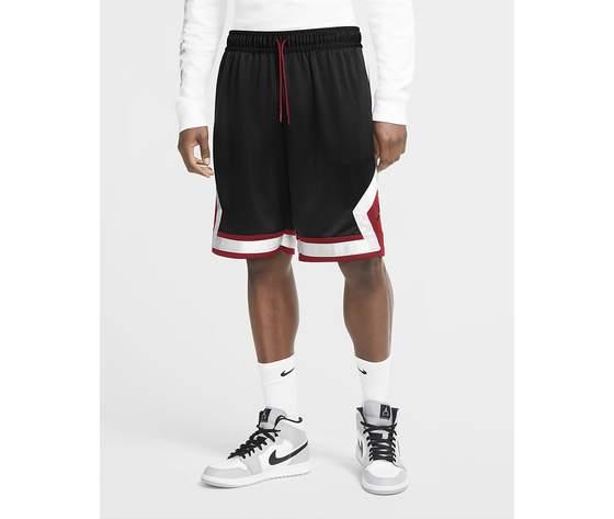 Pantaloncino nero fondo rosso jordan jumpman diamond shorts art. cv6022 010