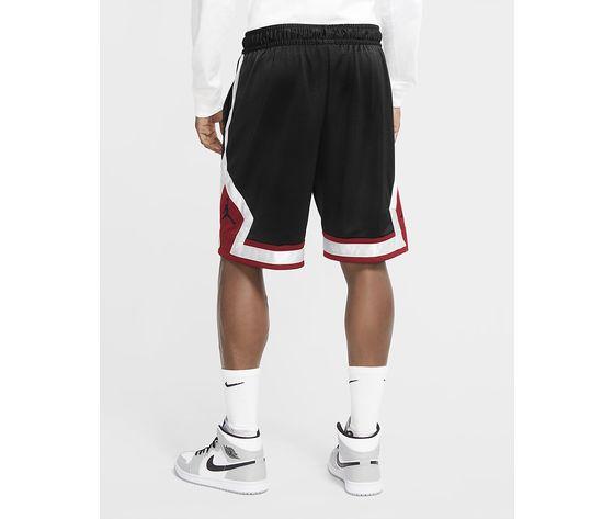 Pantaloncino nero fondo rosso jordan jumpman diamond shorts art. cv6022 010 1