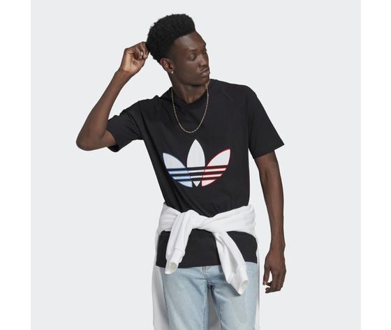 T shirt uomo nera adidas originals adicolor tricolor rosso bianco blu art. gq8919