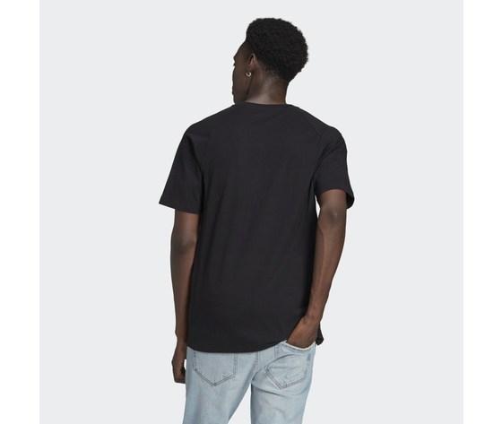 T shirt uomo nera adidas originals adicolor tricolor rosso bianco blu art. gq8919 1