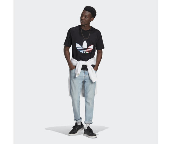 T shirt uomo nera adidas originals adicolor tricolor rosso bianco blu art. gq8919 2