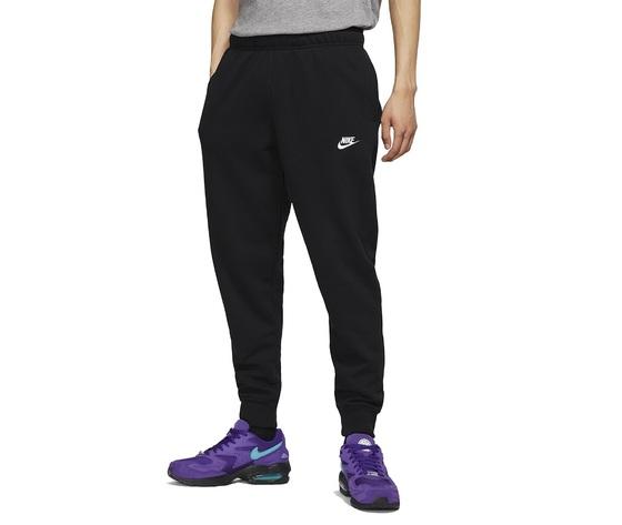 Pantalone uomo nero nike sportswear club jersey joggers cotone art. bv2762 010