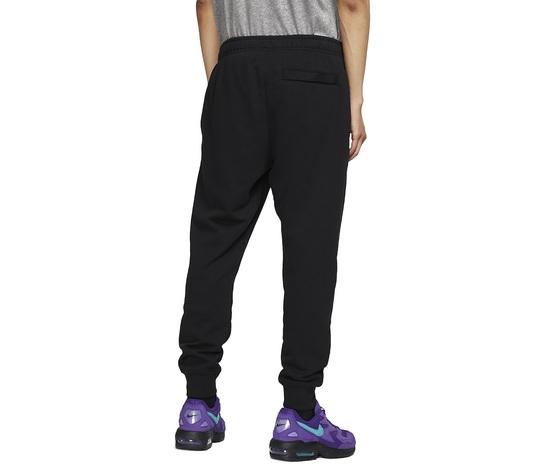 Pantalone uomo nero nike sportswear club jersey joggers cotone art. bv2762 010 1