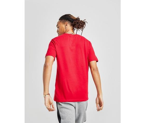 T shirt uomo rossa logo nero jordan jumpman crew regular art. cw5190 687 %284%29