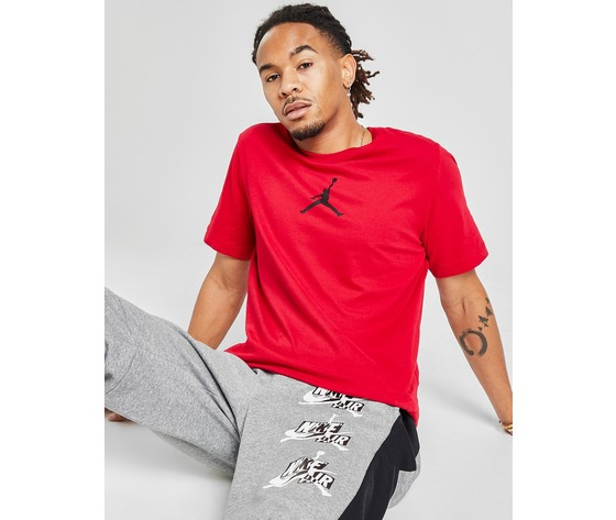 T shirt uomo rossa logo nero jordan jumpman crew regular art. cw5190 687 %282%29