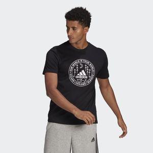 T-Shirt Uomo Nera Stampa Adidas Explore Nature Graphic Tee art. GL2840
