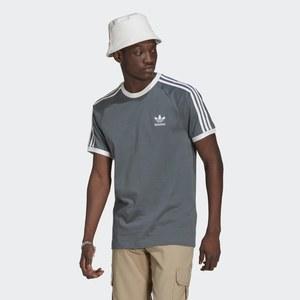 T-Shirt Uomo Blu Adidas Originals Girocollo Adicolor Classics 3 Stripes Blue Oxide art. GN3500