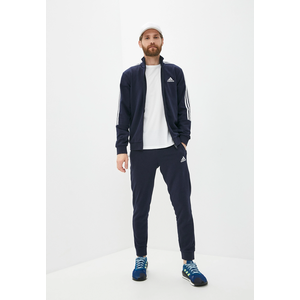 Completo Tuta Uomo Blu in Cotone Adidas Aeroready Essentials 3 Stripes art. GK9977