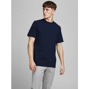Tshirt Blu cotone biologico Uomo Navy Essential JPRBLAWAYN Jack&Jones Premium art. 12187232-N