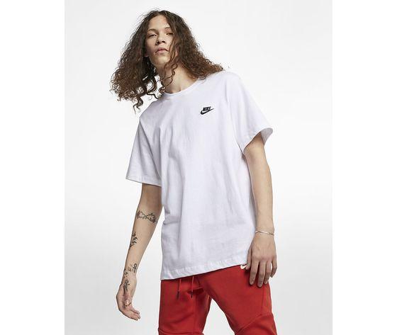 T shirt bianca nike logo piccolo essential art. ar4997 101