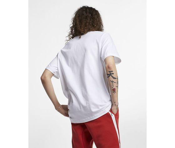 T shirt bianca nike logo piccolo essential art. ar4997 101  1