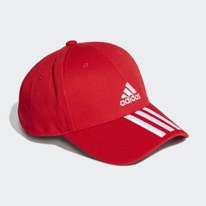 Cappello Adidas Rosso Baseball 3 Stripes Strisce Bianche art. GM6269