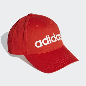 Cappello Adidas Rosso Daily Baseball cap con visiera e scritta bianca art. GE1163