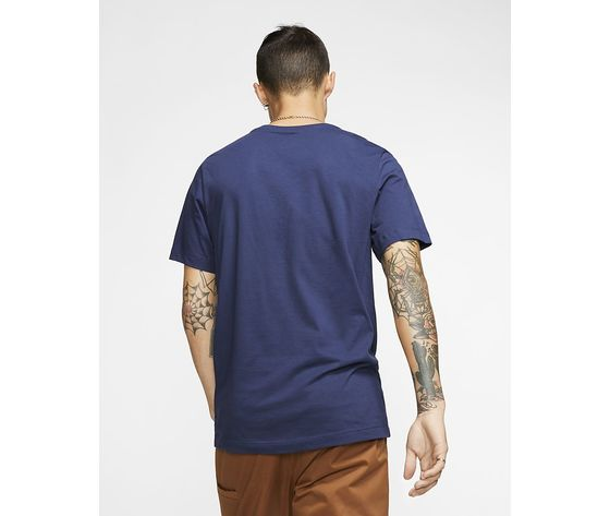 T shirt blu nike logo piccolo essential art. ar4997 410 2