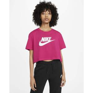 Maglia corta Nike Crop Fucsia T-shirt Essential Donna  sportswear Art. BV6175 616