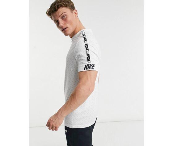 T shirt nike bianca banda repeat print art. dd3777 100