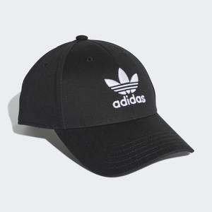 Cappello Adidas Nero Trefoil Logo Ricamo bianco art. EC3603