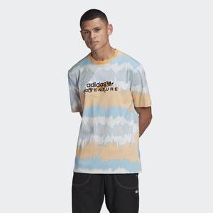 Tshirt Multicolor Adidas Adventure Archive Printed Hazy Orange / Multicolor art. GN2361