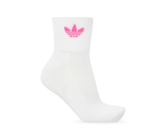 Calze adidas rosa verde bianco multicolor donna mid cut crew socks 3 pairs white gn3084 03 2