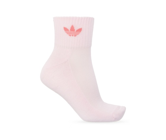 Calze adidas rosa verde bianco multicolor donna mid cut crew socks 3 pairs white gn3084 03 3