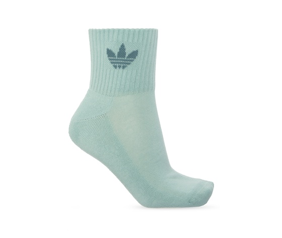 Calze adidas rosa verde bianco multicolor donna mid cut crew socks 3 pairs white gn3084 03 4