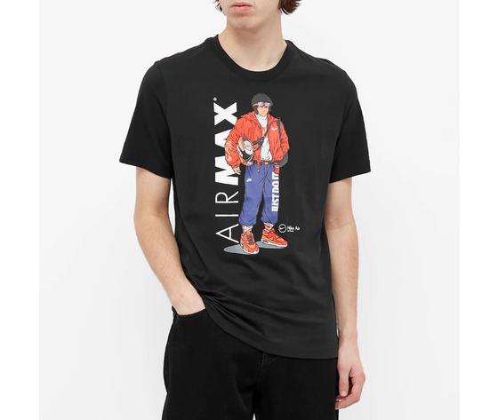 T shirt nera nike hypeman manga db6157 010 1 3