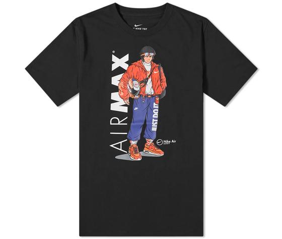 T shirt nera nike hypeman manga db6157 010 1 1
