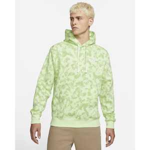 Felpa Nike Verde Lime Green Militare Camo con cappuccio Hoodie Club BB Light Liquid Lime/Light Liquid Lime/Bianco Art. DA0055 383