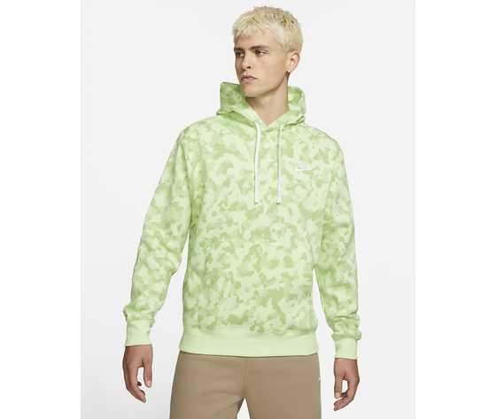 Felpa con cappuccio nike mimetica militare verde lime camo art. da0055 383