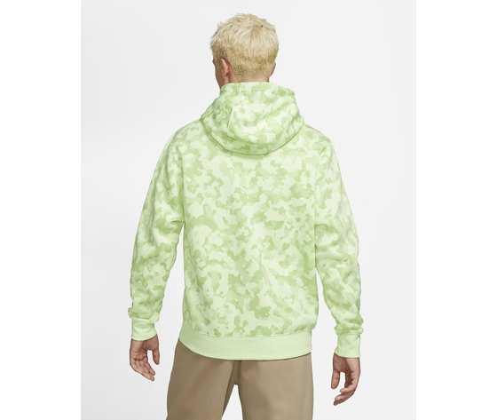 Felpa con cappuccio nike mimetica militare verde lime camo art. da0055 383 1