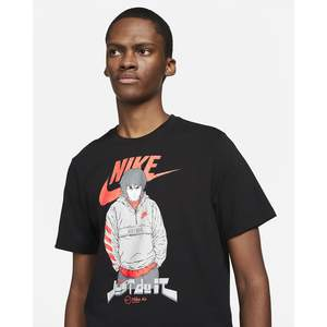 T-shirt Nero Nike Manga Futura man print Nike X @vangoathe Black art. DC9101 010