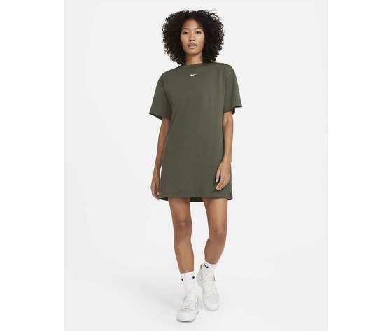 Vestito nike abito donna cotone verde militare verdone art. cj2242 325 %283%29