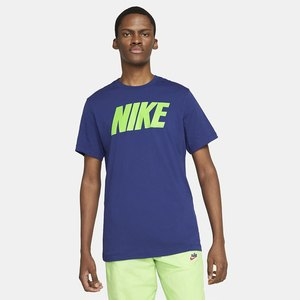 T-shirt Blu Nike Uomo Icon Block Font Logo Giallo art. DC5092 455