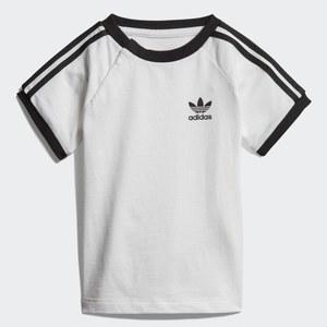 Adidas T- shirt 3-Stripes Bianca e Nera Bambini  Art. DV2824
