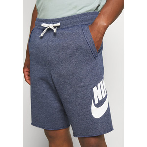 Bermuda Nike Blue Melange Denim in Felpa French Terry Taglio Vivo  Logo Nike bianco art. AR2375 494