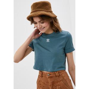 Top Adidas Green Donna Sleeve Crop Maniche con Risvolto Maglietta corta donna Art. GN2808