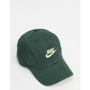 Cappello Nike Verde H86 Tela slavato Green Futura Washed Art. 913011 337