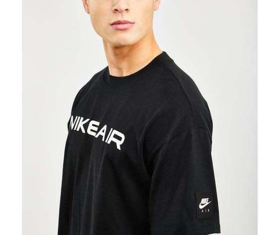 Tshirt nike nero air logo cotone art. da0304 010 1 %283%29