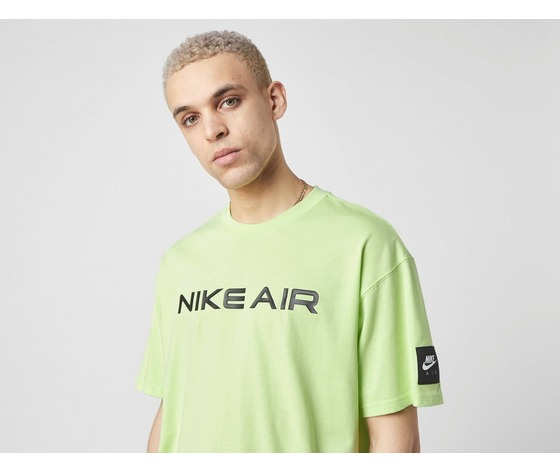 Tshirt nike verde giallo fluo air logo cotone art. da0304 383 1 %281%29