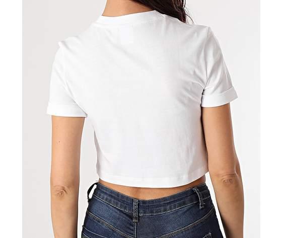 Top bianco adidas donna maniche corte essential art. gn2803 2