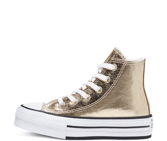 Converse dorate platform eva alla star oro gold 670546c 1