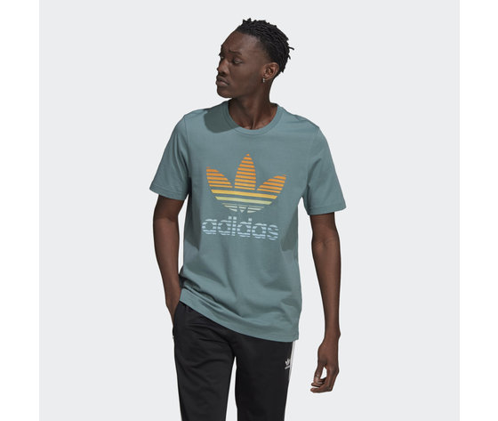 T shirt adidas verde hazel  trefoil ombre verde gp0164 21 model