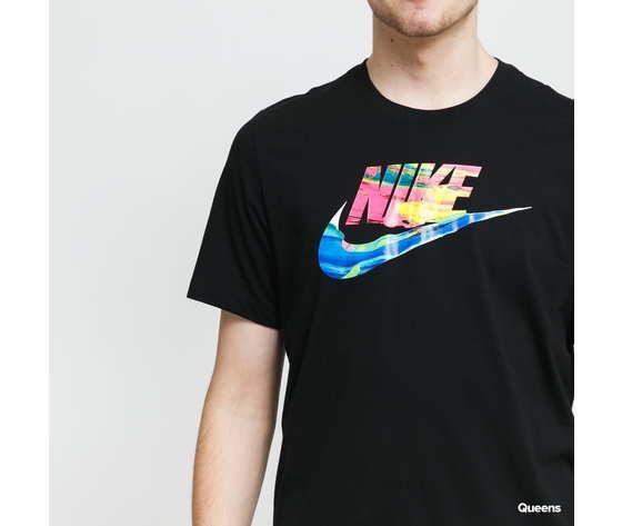 Tshirt nike nera swoosh colorato art. db6161 010 2