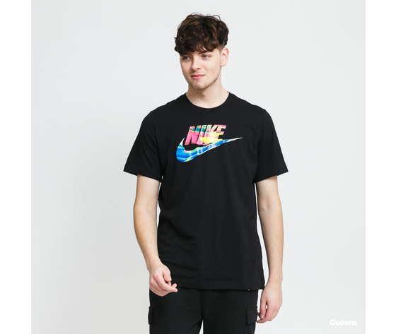 Tshirt nike nera swoosh colorato art. db6161 010